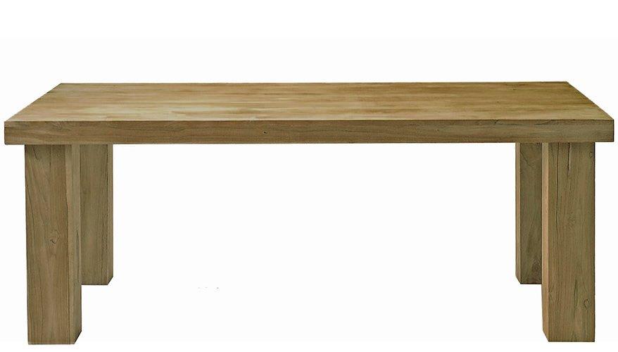 Τραπέζι από Μασίφ ΤΕΑΚ Φυσικό