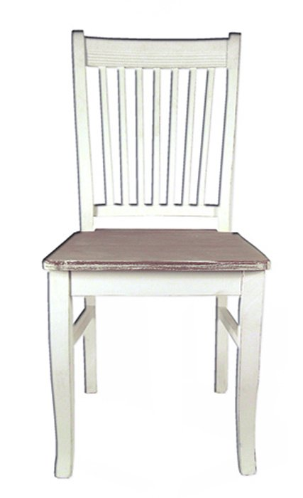 Καρέκλα με Μαξιλάρι Καφέ-Λευκό