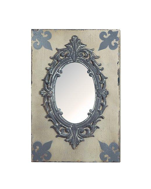 Καθρέπτης Τοίχου με Ξύλινο Ταμπλό (Μήκος: 40 Βάθος: - Ύψος: 60)