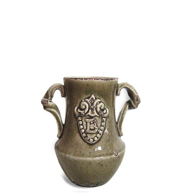 Κεραμικό βάζο με λαβές (Μήκος: 0 Βάθος: 0 Ύψος: 19,5)