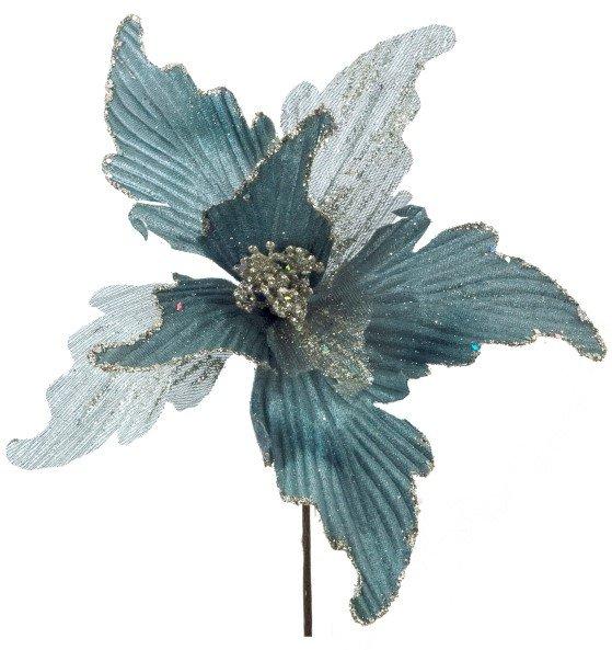 Πικ αλεξανδρινό γκρι-μπλε βελούδο