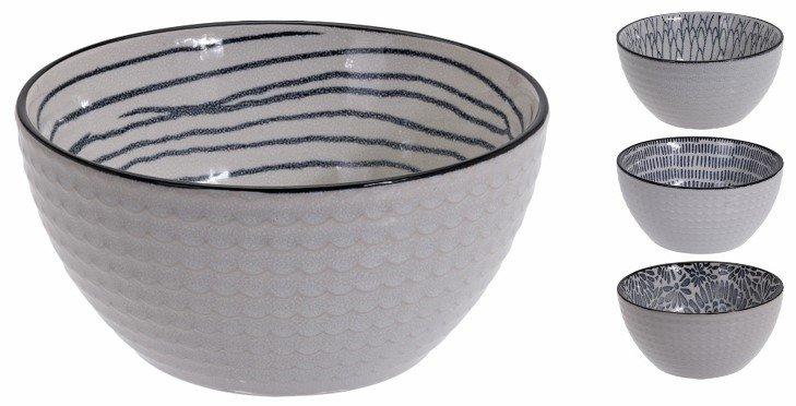 Σετ μπωλ stoneware με σχέδιο