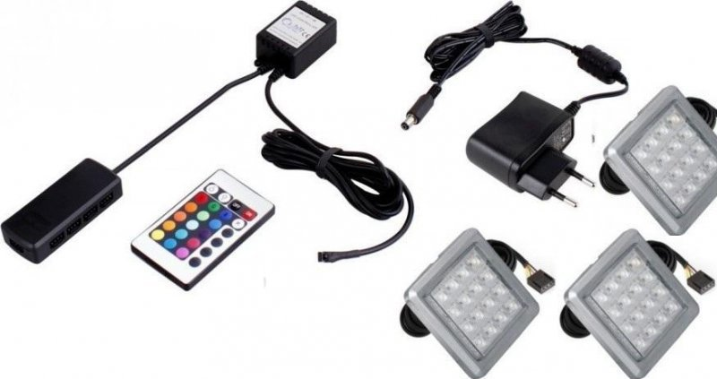 Φωτισμός LED 0003 – RGB – Σετ 3 τμχ