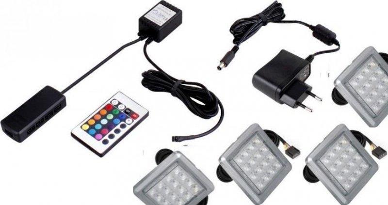Φωτισμός LED 0004 – RGB – Σετ 4τμχ
