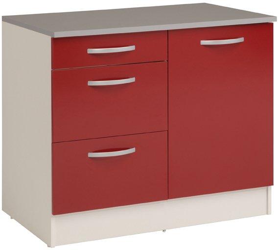 Επιδαπέδιο ντουλάπι Eikko 100-Κόκκινο