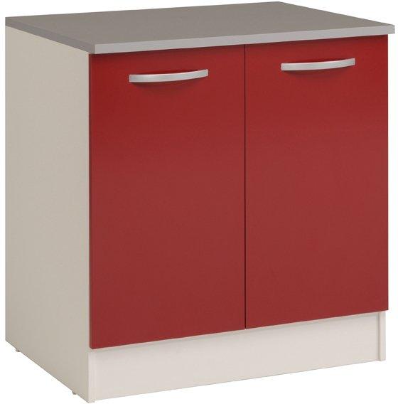 Επιδαπέδιο ντουλάπι Eikko 80-Κόκκινο