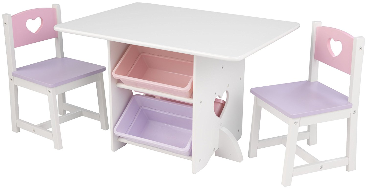 Τραπεζάκι KidKraft Storage Table and Chair Set WIth Bins