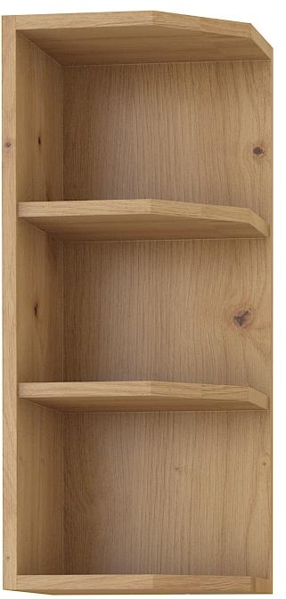 Κρεμαστό ντουλάπι με ράφια γωνιακό Yvette