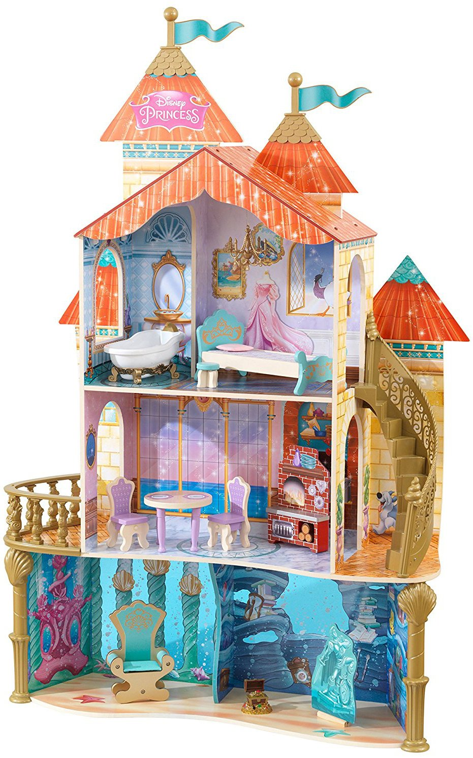 Ariel land to sea Kidkraft castle (Μήκος: 98 Βάθος: 31 Ύψος: 150)
