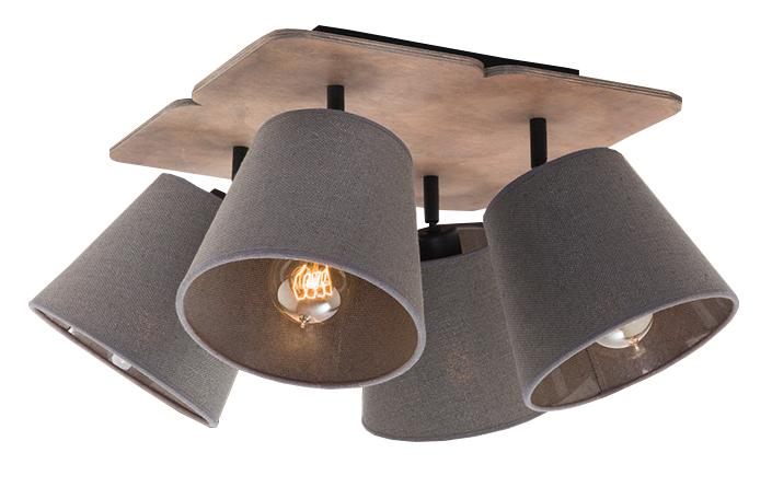 Πλαφονιέρα οροφής Awinion 4φωτη