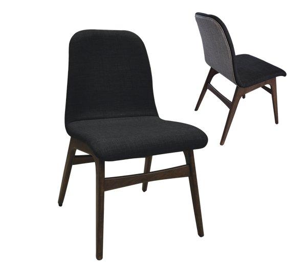 Καρέκλα Aroma-Καρυδί-Γκρι