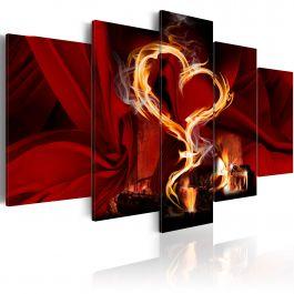 Πίνακας - Flames of love: heart