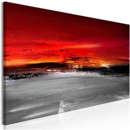 Πίνακας - Crimson Landscape (1 Part) Narrow