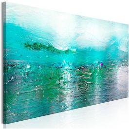 Πίνακας - Turquoise Landscape (1 Part) Narrow