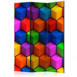 Διαχωριστικό με 3 τμήματα - Colorful Geometric Boxes [Room Dividers]