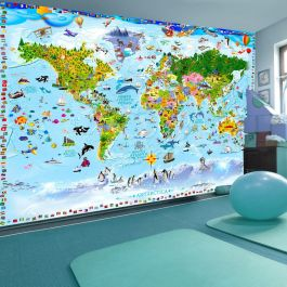 Φωτοταπετσαρία - World Map for Kids