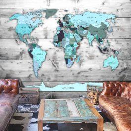 Φωτοταπετσαρία - World Map: Blue Continents