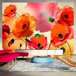 Φωτοταπετσαρία - Velvet poppies I