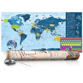 Χάρτης τύπου «ξυστό» - Blue Map - Poster (English Edition)