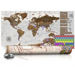 Χάρτης τύπου «ξυστό» - Grey Map - Poster (English Edition)
