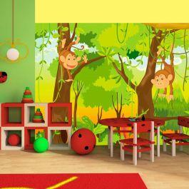 Φωτοταπετσαρία - jungle - monkeys