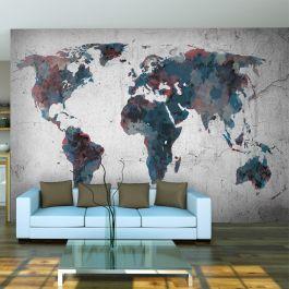Φωτοταπετσαρία - World map on the wall
