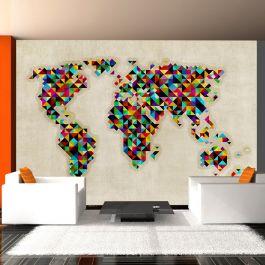Φωτοταπετσαρία - World Map - a kaleidoscope of colors