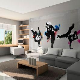 Φωτοταπετσαρία - Monkey dance - street art