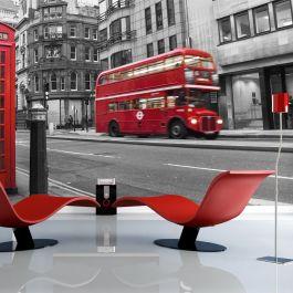 Φωτοταπετσαρία - Red bus and phone box in London