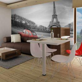 Φωτοταπετσαρία - Eiffel Tower and red car