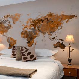 Φωτοταπετσαρία - World in brown shades