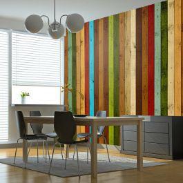 Φωτοταπετσαρία - Wooden rainbow