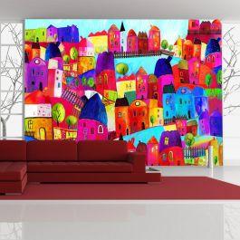 Φωτοταπετσαρία - Rainbow-hued town
