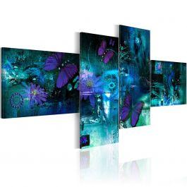 Πίνακας - Butterflies in turquoise