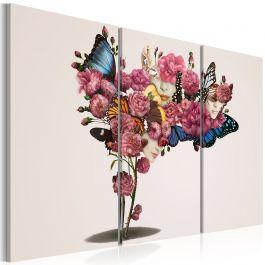 Πίνακας - Butterflies, flowers and carnival