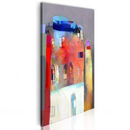 Πίνακας - Rainbow-hued house 40x80