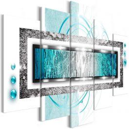 Πίνακας - Turquoise blizzard (5 Parts) Wide 225x100