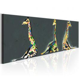 Πίνακας - Colourful Giraffes