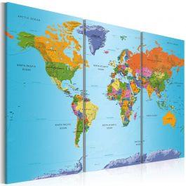 Πίνακας - World Map: Colourful Note