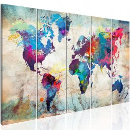 Πίνακας - World Map: Cracked Wall