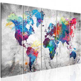 Πίνακας - World Map: Spilt Paint