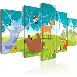 Πίνακας - Friendly Animals (5 Parts)