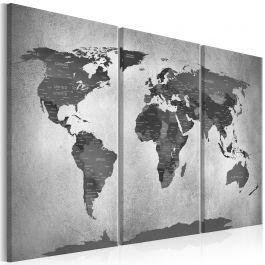 Πίνακας - Map on Concrete (3 Parts)