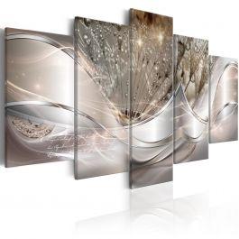 Πίνακας - Sparkling Dandelions (5 Parts) Beige Wide
