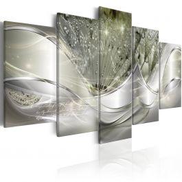 Πίνακας - Sparkling Dandelions (5 Parts) Green Wide