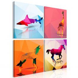 Πίνακας - Geometric Animals (4 Parts)