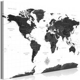 Πίνακας - Black and White Map (1 Part) Wide