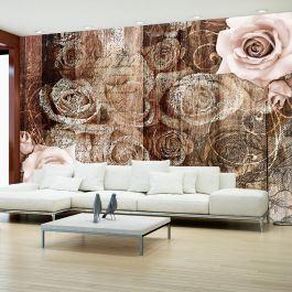 Φωτοταπετσαρία - Old Wood & Roses