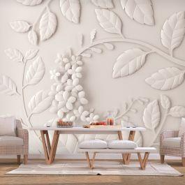 Φωτοταπετσαρία - Paper Flowers (Cream)