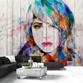 Φωτοταπετσαρία - Wooden Portrait